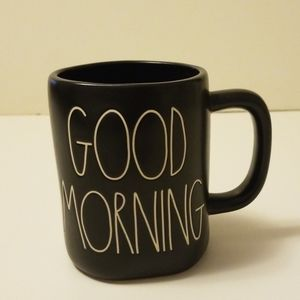 "New Rae Dunn black matte ""Good Morning"" coffee mug"